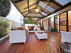 Outdoor living design with pergola from a real australian home - outdoor li Pergola Attached To House, Pergola With Roof, Pergola Shade, Patio Roof, Pergola Kits, Pergola Ideas, Patio Ideas, Deck Shade, Pergola Plans