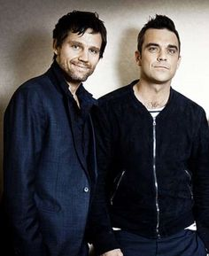 Robbie williams with Jason Orange