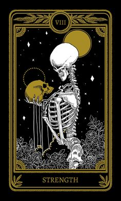 What Are Tarot Cards? Made up of no less than seventy-eight cards, each deck of Tarot cards are all the same. Tarot cards come in all sizes with all types of artwork on both the front and back, some even make their own Tarot cards Strength Tarot, Tarot Tattoo, Art Carte, Arte Obscura, Arte Horror, Tarot Readers, Tarot Decks, Skull Art, Aesthetic Art