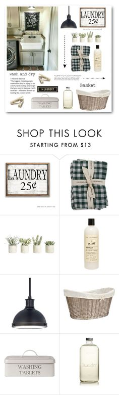 """""""Laundry room"""" by justalittlesparkle ❤ liked on Polyvore featuring interior, interiors, interior design, home, home decor, interior decorating, Sir/Madam, Allstate Floral, The Laundress and Sea Gull Lighting"""