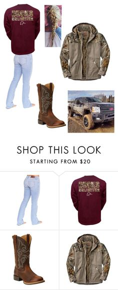 """""""Movies thwn Muddin!!"""" by preppywhitechick ❤ liked on Polyvore featuring Bullet, Ariat and Realtree"""