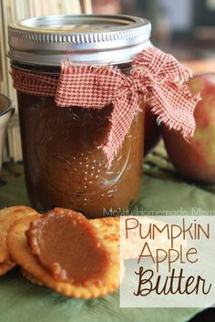 Pumpkin Apple Butter - Chopped apple, pumpkin, apple juice, brown sugar, and spices simmer on the stove top to create this spread perfect for crackers or toast!
