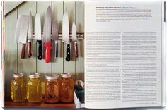 Mag: Afar / Director of Photography: Tara Guertin / Photo: Tara Donne. Knives and honey.