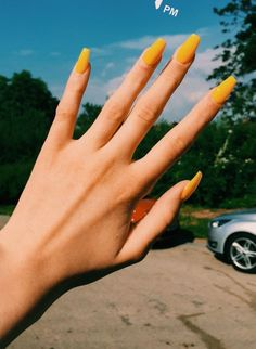 Trendy Yellow Nail Art Designs To Make You Stunning In Summer;Acrylic Or Gel Nails; French Or Coffin Nails; Matte Or Glitter Nails; Cute Acrylic Nails, Acrylic Nail Designs, Matte Nails, Acrylic Nails Yellow, Glitter Nails, Acrylic Nails For Summer, Sparkle Acrylic Nails, Square Acrylic Nails, Nails Now