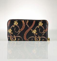 Equestrian print Ralph Lauren wallet