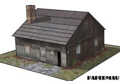 PAPERMAU: The Old Farm House Paper Model - by Papermau - Download Now! Putz Houses, Old Farm Houses, Doll Houses, German Houses, Miniature Houses, Ho Scale Buildings, Medieval Houses, Layout, Paper Houses