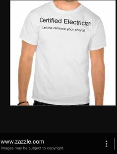Electrician Humor, Stamp, Funny, Mens Tops, T Shirt, Supreme T Shirt, Tee Shirt, Stamps, Funny Parenting