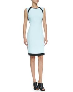 Doji 2 Sleeveless Colorblock Sheath Dress at CUSP.