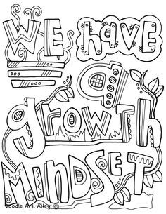 Growth Mindset Coloring Pages at Classroom Doodles