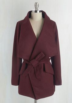 Preferred Pairing Coat in Merlot From the Plus Size Fashion Community at www.VintageandCurvy.com