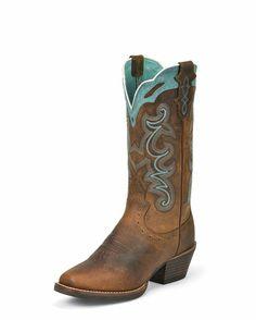 "Women's 12"" Rugged Tan Buffalo Boot Justin - $153.95"