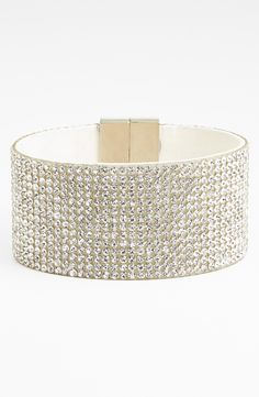 This is the perfect dash of bling | Crystal cuff bracelet.