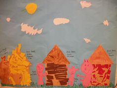 Three Little Pig class mural