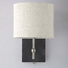 Buy john lewis lavinia wall light with shade online at johnlewis buy john lewis jack wall light slate online at johnlewis aloadofball Choice Image