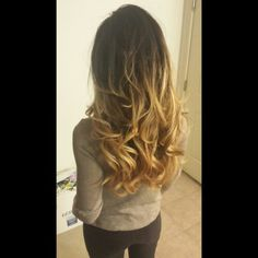 Ombre hair color for brunettes. Love my color!