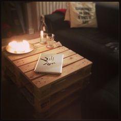 Så blev sofabordet færdigt!  #coffeetable#table#pallettable#done#selfmade#byggemandbob#greatfit#stolt #Padgram