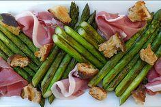 Asparagi Alla Griglia--Asparagus W/ Prosciutto & Gorgonzola
