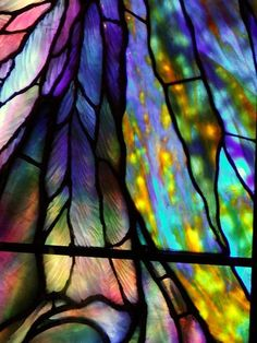 Tiffany-style stained glass over-the-rainbow