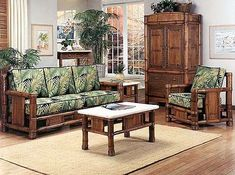 Bamboo Living Room Furniture, All Natural Bamboo Furniture, Bamboo ...