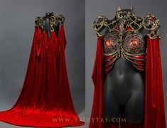 Another look at the top part and back of this piece: The main parts are either sculpted out of worbla (black art and transpa art) or apoxy sculpt (the r. Cathedral/pest dress front and back Dress Dior, Dress Up, Mode Alternative, Fantasy Gowns, Fantasy Costumes, Character Outfits, Fashion Outfits, Womens Fashion, Costume Design