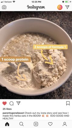 Nothing like eating healthy oatmeal 😋 Nutrition Club, Healthy Nutrition, Eating Healthy, Healthy Recipes, Healthy Meals, Healthy Food, Herbalife Motivation, Herbalife Shake Recipes, Herbalife Nutrition