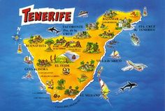 Made In Canarias Postcrossing Blog: Tenerife maps
