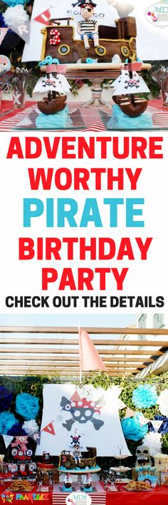 The coolest adventure-worthy pirate party ever! Great for girls birthday or boys birthday idea | pirate party | pirate birthday party | pirate boys party | pirate theme| paarteez.com