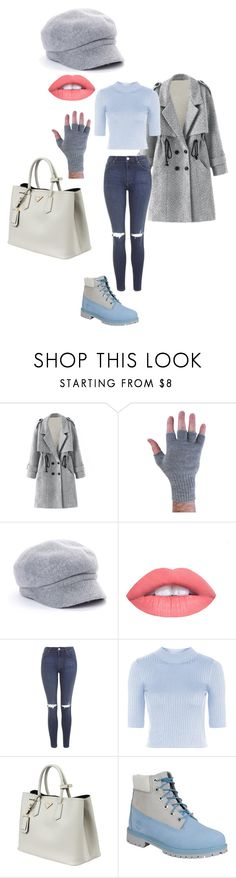 """Untitled #152"" by vic-valdez on Polyvore featuring August Accessories, Topshop, Prada and Timberland"