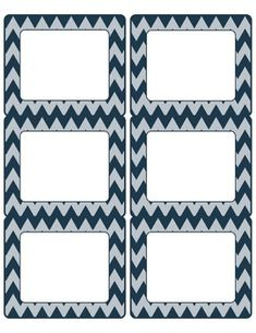 FREE Editable Chevron Labels-6 pages to Match Common Core