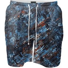 Blue Abstract Swim Shorts by art.from.julia