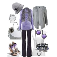 lavendar/gray, created by tammielou1958 on Polyvore