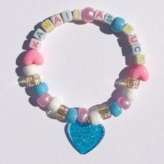 Pony Bead Bracelets, Candy Bracelet, Friendship Bracelets With Beads, Cute Bracelets, Pony Beads, Weird Jewelry, Cute Jewelry, Jewelry Crafts, Beaded Jewelry