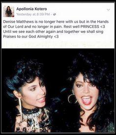 Vanity Singer, Vanity 6, Apollonia Kotero, Denise Matthews, Vintage Black Glamour, Vintage Beauty, My Prince, Prince Girl, Prince Purple Rain