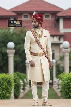 Exclusive range of mens wedding sherwani by Manawat. Explore latest collection of sherwani for men by Manawat. Indian Wedding Suits Men, Sherwani For Men Wedding, Best Wedding Suits, Wedding Outfits For Groom, Sherwani Groom, Indian Groom Wear, Wedding Dress Men, Indian Wedding Outfits, Wedding Men