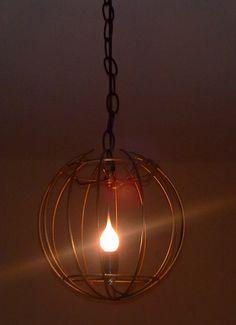 Antique Metallic Brass Round Pendant Lamp