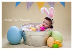 Easter photo!  Longmont, Colorado Baby Photographer - Takoda's 6 months - Longmont, Colorado Wedding and Lifestyle photographer