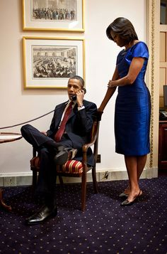 In a phone call from the U.S. Capitol immediately after the State of the Union Address, President Barack Obama informs John Buchanan that his daughter Jessica was rescued by U.S. Special Operations Forces in Somalia, Jan. 24, 2012.
