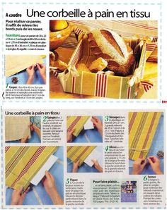 DIY : Corbeille à pain en tissu