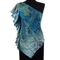 Peacock Flutter Top - New Age & Spiritual Gifts at Pyramid Collection - Adore this!!!