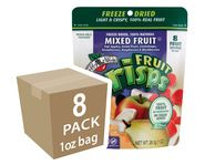 Our  Mixed Fruit variety of Fruit Crisps consists of Fuji Apples, Asian Pears, Cantaloupe, Strawberries, Raspberries, and Blackberries. Each bag contains eight full servings of fruit! Large, 1oz. reclosable bag!  #fruitsnack #driedfruit #freezedried #healthysnack #brothersallnatural