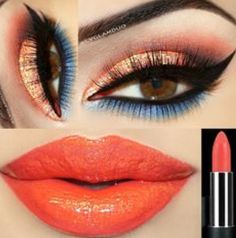 Coral with Blue Liner!!