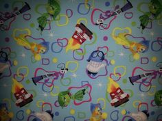 Disney INSIDE OUT Movie Personalized Cotton & Fleece BLANKET Handmade #Handmade
