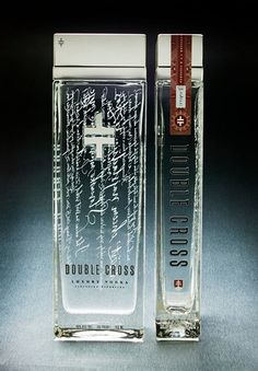 This is a gift for a girlfriend's dad :-) Directly printed bottle - very catching bottle shape. Double Cross. For all you vodka lovers.
