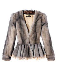 This seasons dove-tone fur signals a return to high-class elegance