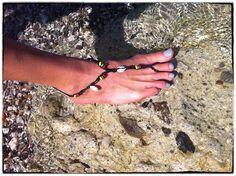 Bare Foot Black #bracelet #bileklik #diy #accessories, Anklet Bracelet, Bangle Foot Harness Toe Ring, Barefoot Sandal, Beach