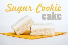 Life with Fingerprints: Sugar Cookie Cake
