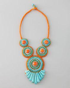 Panacea Tribal Rope Bib Necklace