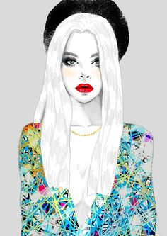 I like that all the colour is on her outfit, cool illustration x