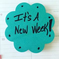 Today's Energy Infusion Words: Its A New Week! That means a fresh start! How do you want this week to be different? How do you want to show up? You can choose.  #creativityinbusiness #energyinfusionwords #stickynotes #ladyboss #creativepower #leadership