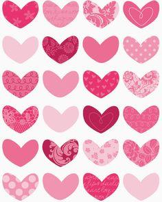 Les cœurs ont la même dimension et sont tous placées à la même distance donc, rythme.